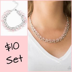 Paparazzi Necklace, Earrings and Bracelet Set